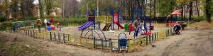 Заря детская площадка на улице Батицкого октябрь 2007 года